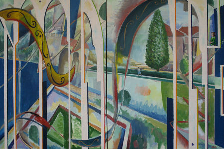 Andalucian Diptych II. 40 x 60 inches. Oil on Canvas.
